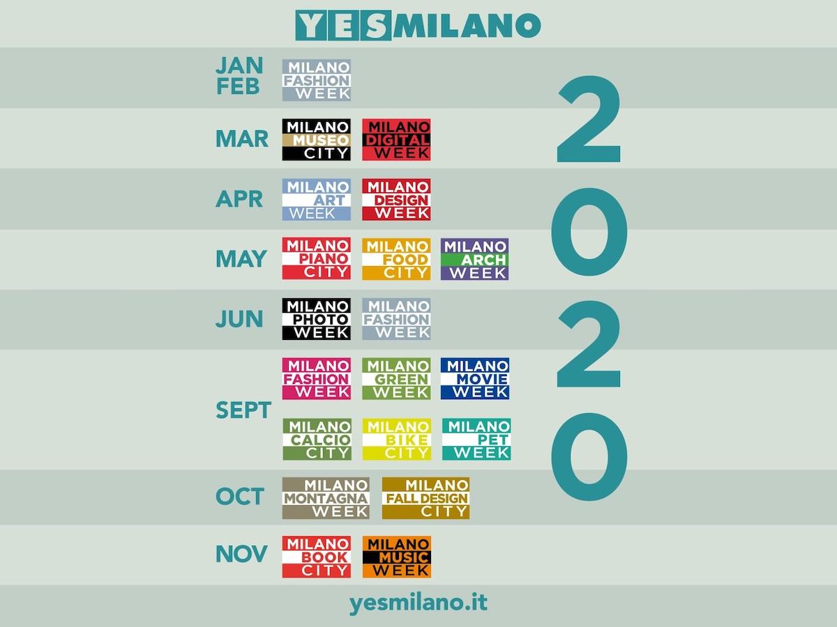 Calendario Alba Tramonto 2020.Palazzo Marino Il Calendario Delle Week Che Animeranno