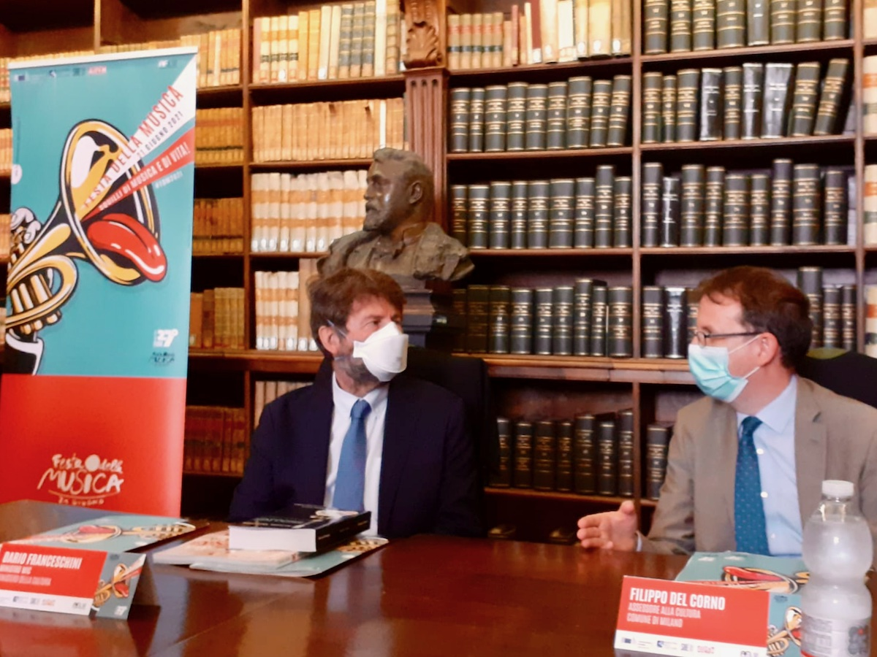 Il Ministro Franceschini con l'assessore alla Cultura